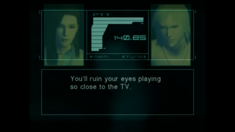 mgs2 turn off the game console