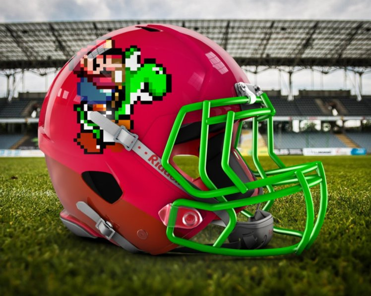 mario football helmet