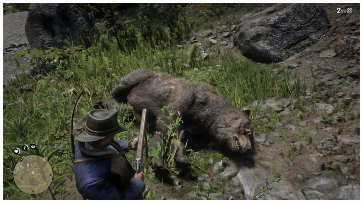 red dead redemption 2 grizzly bear
