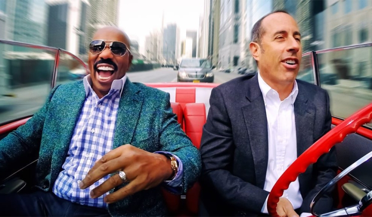 steve harvey comedians in cars