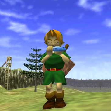 link playing ocarina