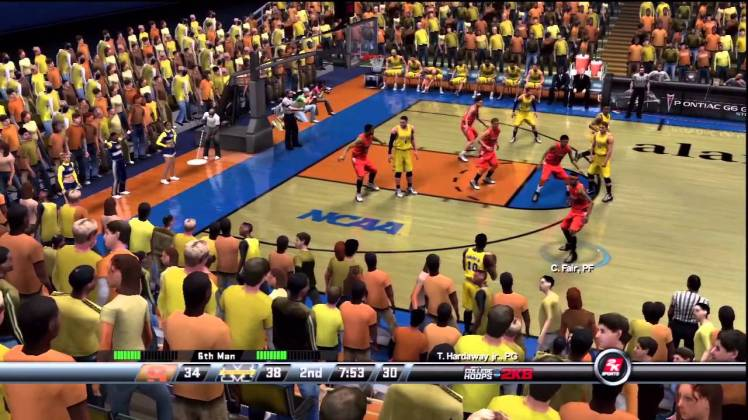 michigan basketball college hoops 2k8